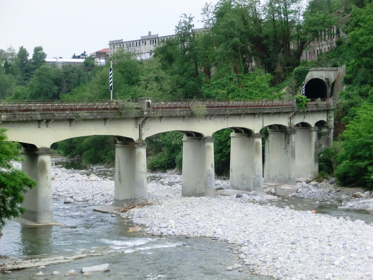 Cervo Railroad Bridge and Cervo Tunnel northern portal