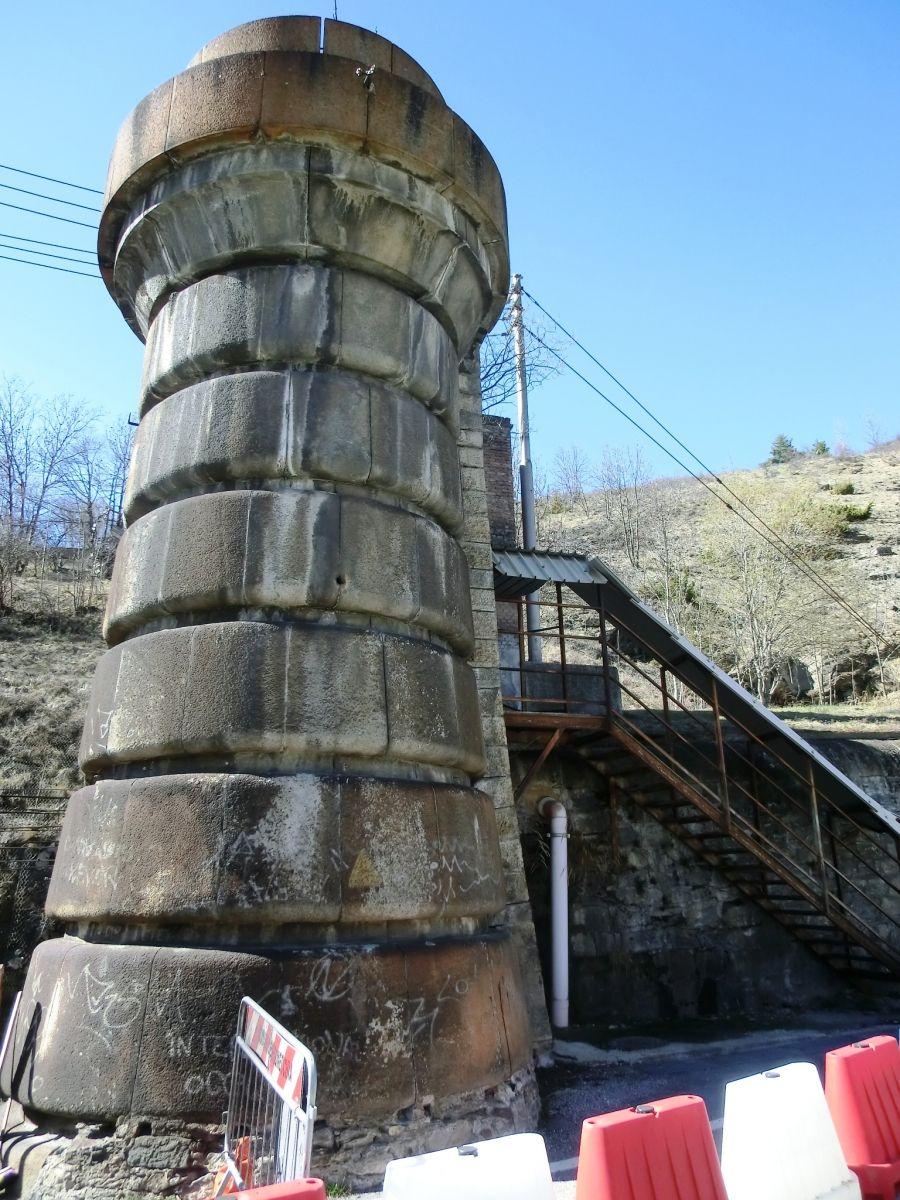 Frejus railway Tunnel italian portal eastern tower