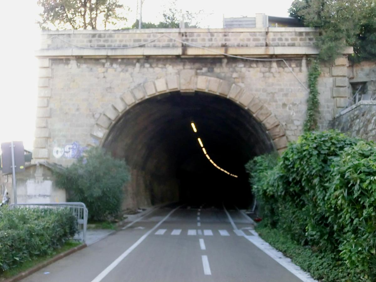 Capo Nero bicycle and pedestrian tunnel eastern portal
