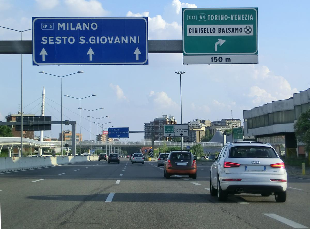 Superstrada S.S.36 interconnection with A4 motorway
