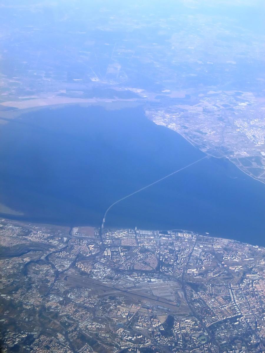Vasco da Gama Bridge aerial view