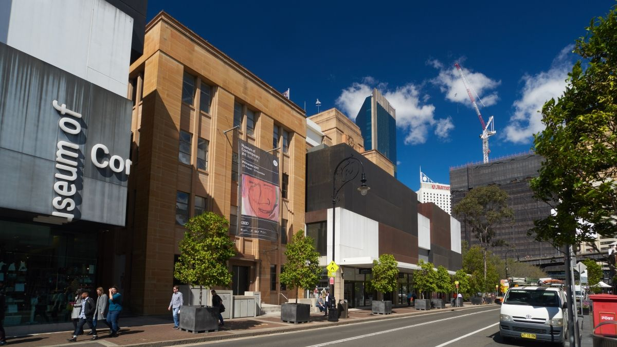 Museum of Contemporary Art Australia Back of the main MSB building with modern additions