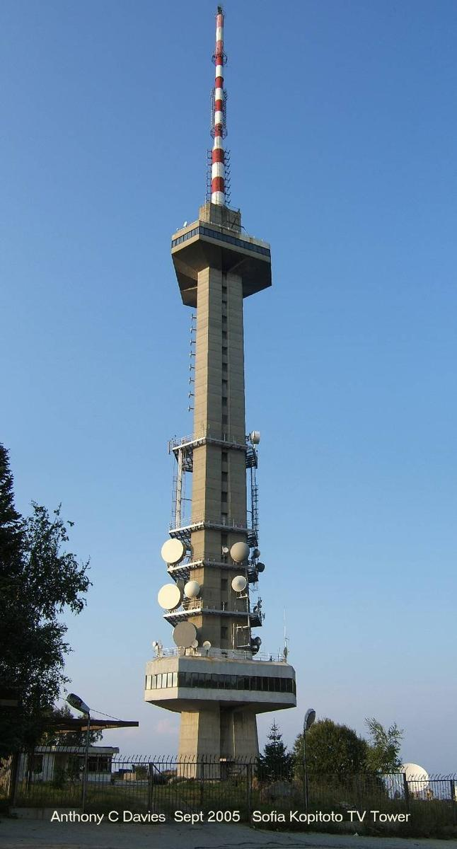 Kopitoto TV Tower, Sofia, Bulgaria.