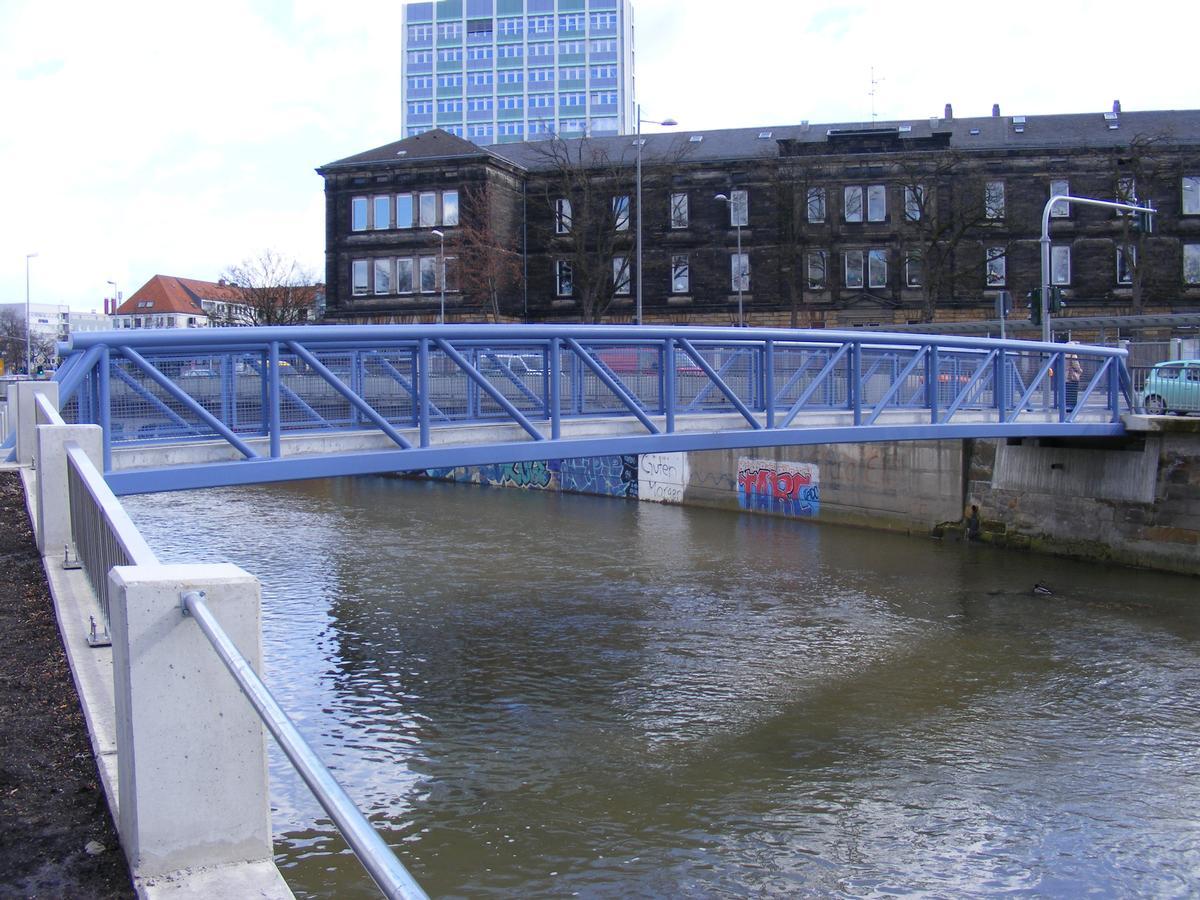 Pedestrian bridge across Roter Main near Z.O.H. Bus Station Bayreuth