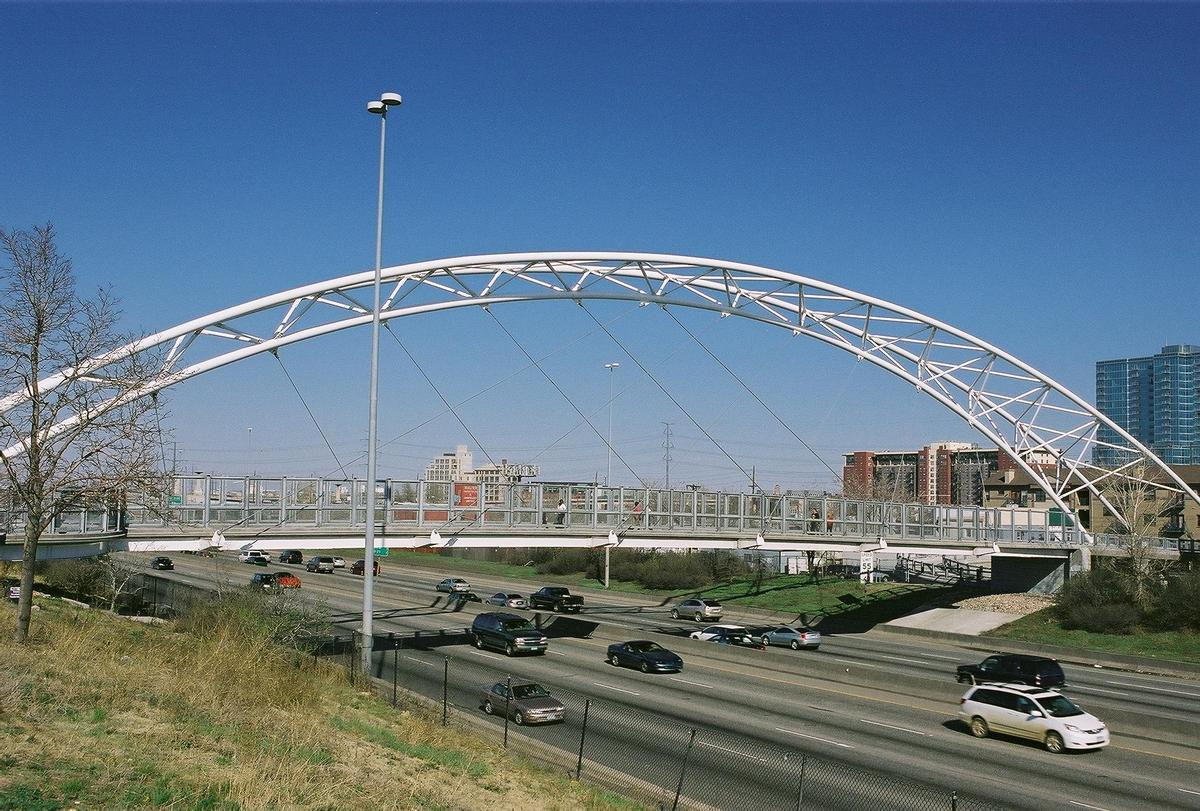 Views of the Highland Bridge crossing Interstate 25