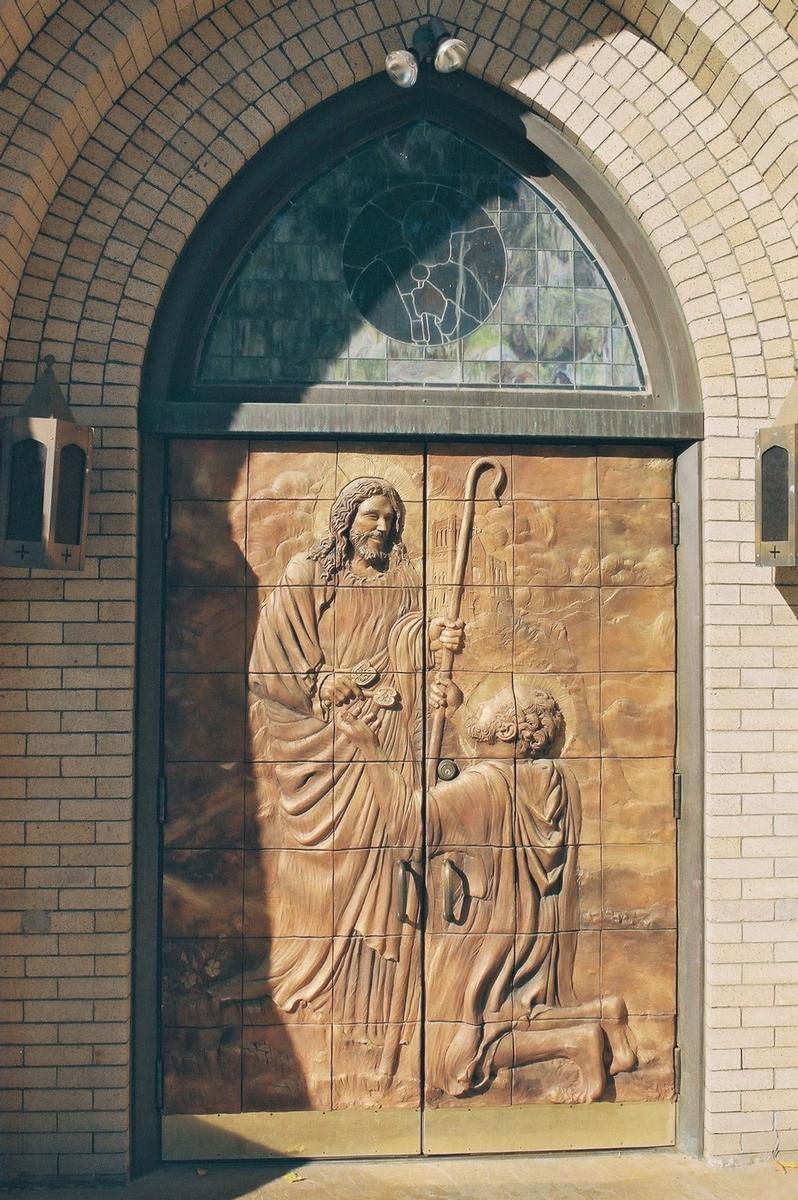 Saint Peter's Catholic Church - Relief on the main door