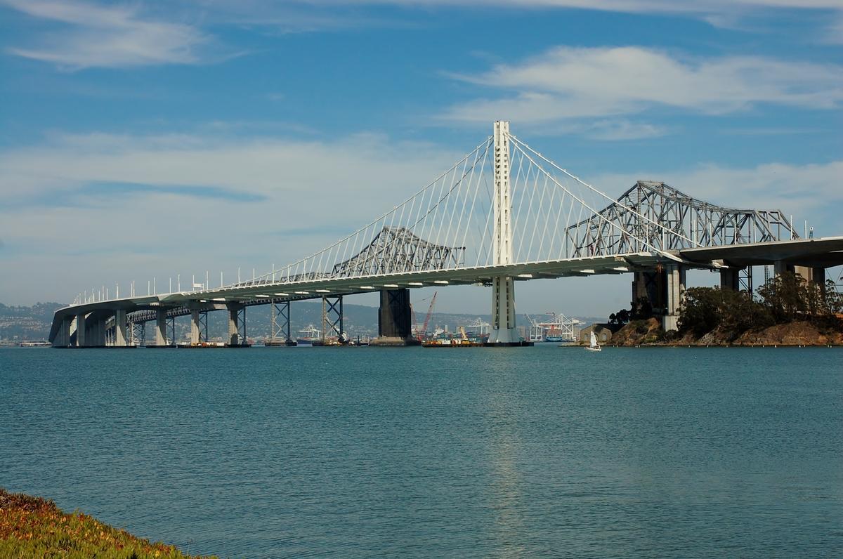 San Francisco-Oakland Bay Bridge (East) View from Treasure Island