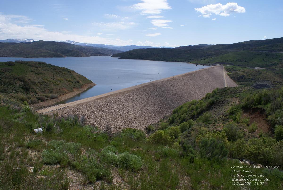 Jordanelle Dam & Reservoirnear Heber CityWasatch County / Utah