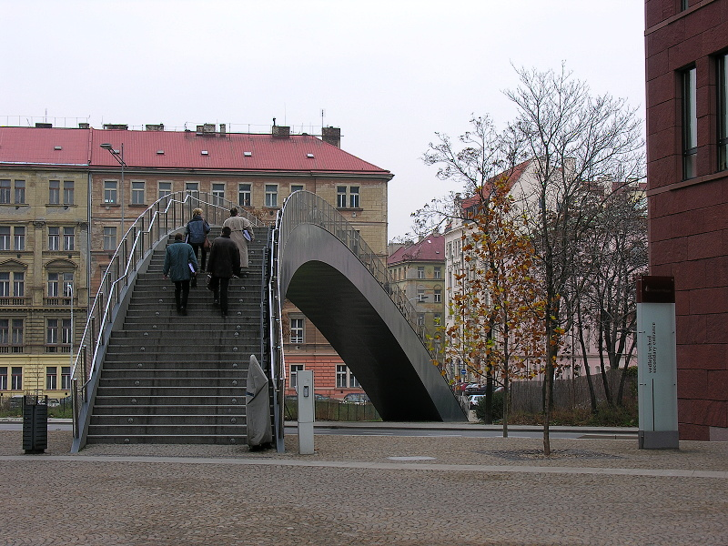 Footbridge at Danube House, Prague