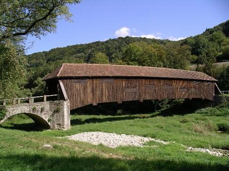 Jagstbrücke Unterregenbach: Südseite der Brücke