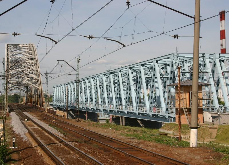 Eisenbahnbrücke Saburovo, Moskau