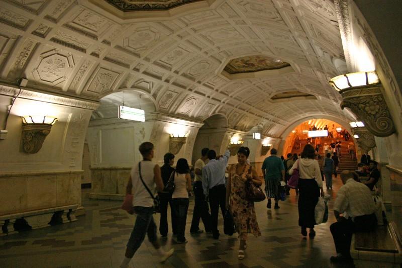 Belorusskaya metro station, Moscowu