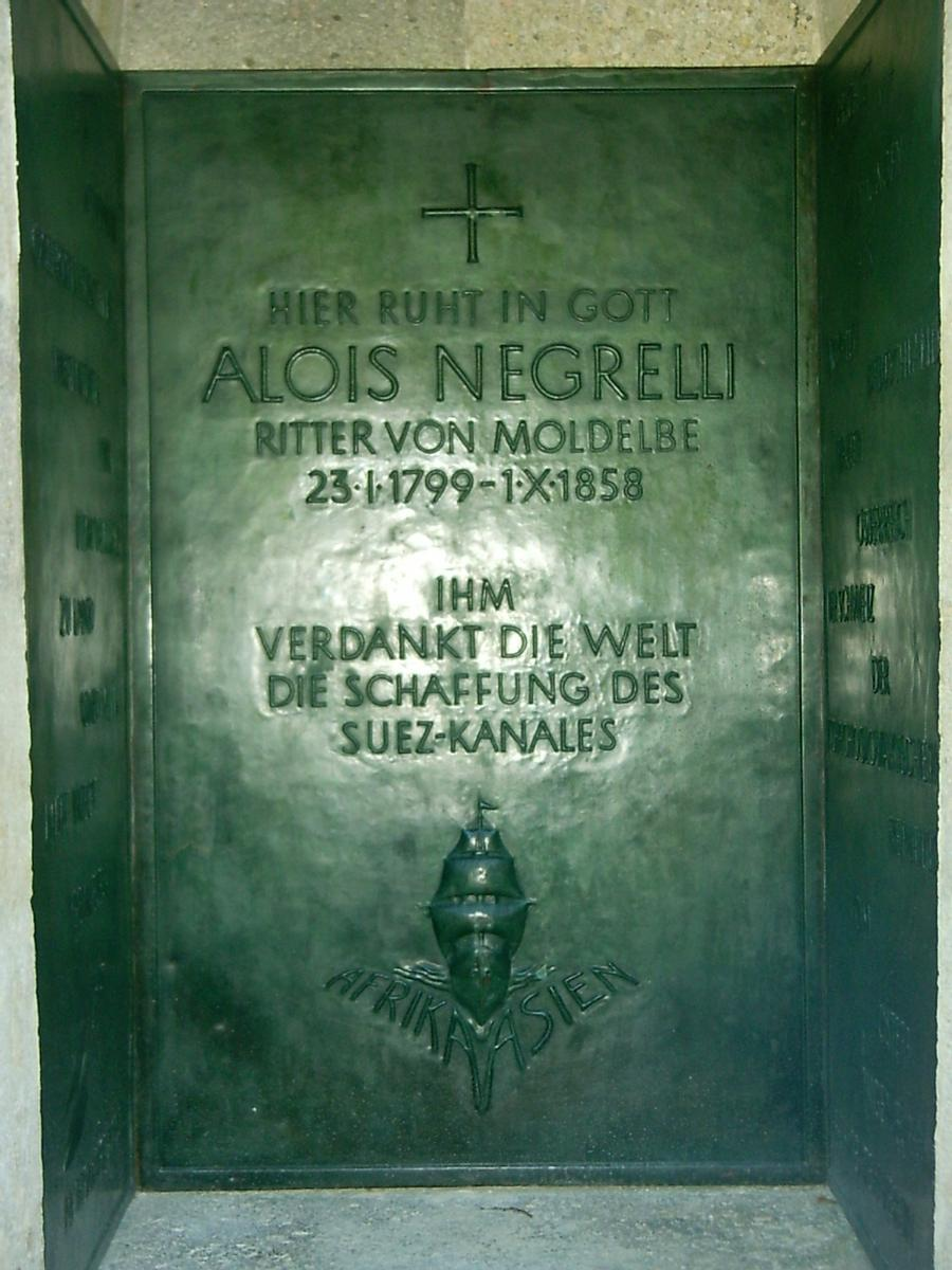 Negrelli's grave at the central cemetery in Vienna