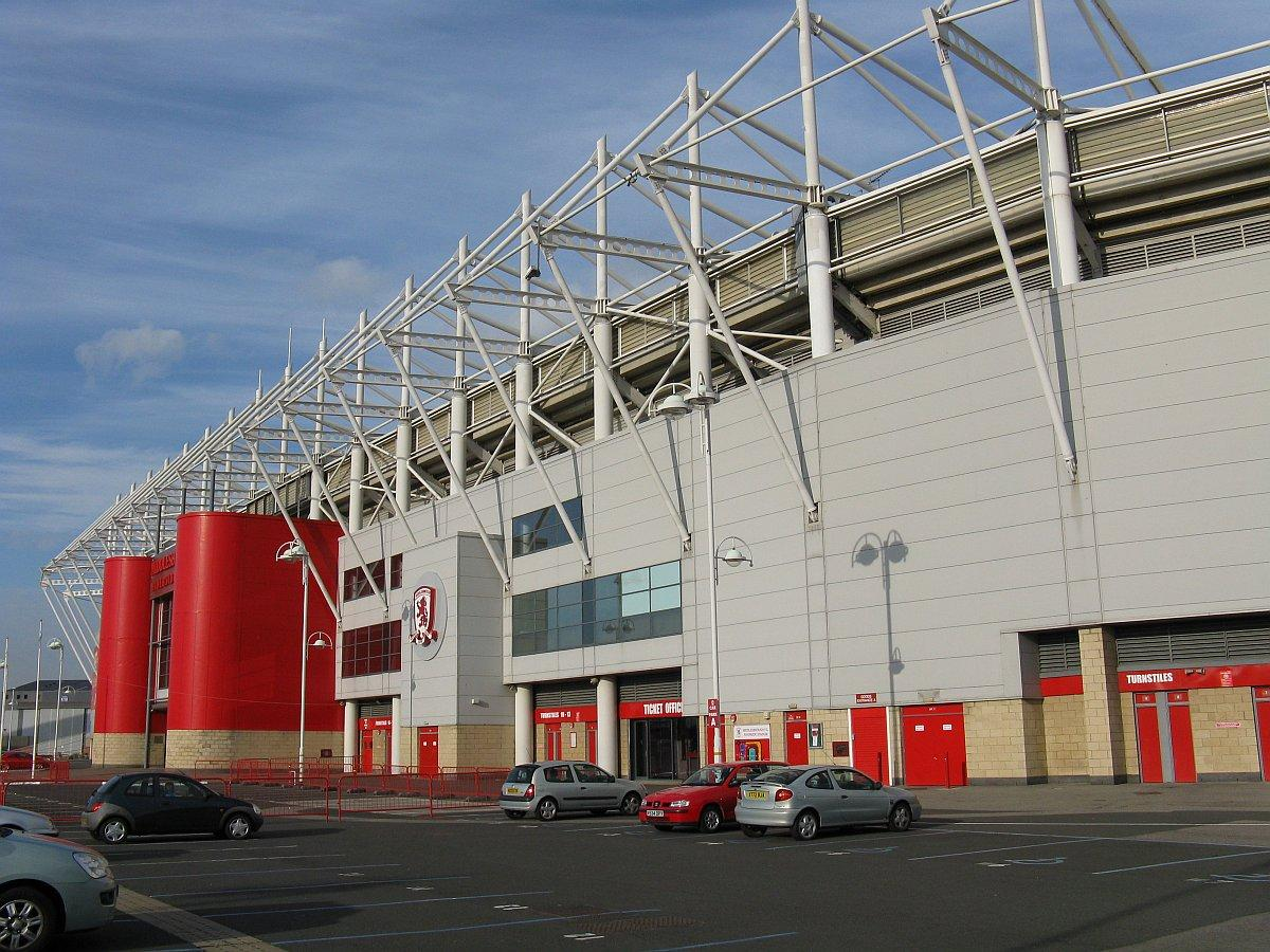 The Riverside Stadium, Middlesbrough from the south west corner