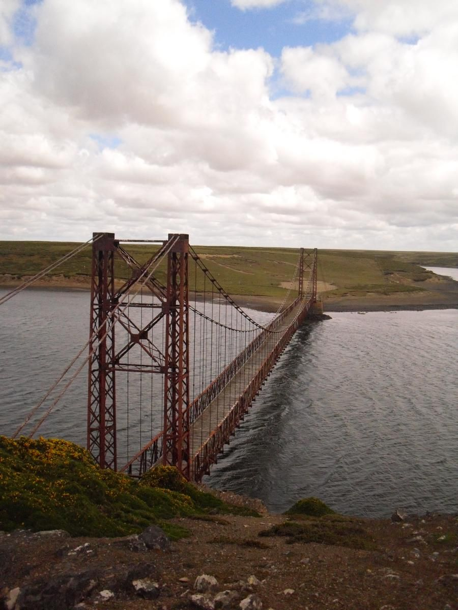 Bridge at Bodie Creek in the Falkland Islands.