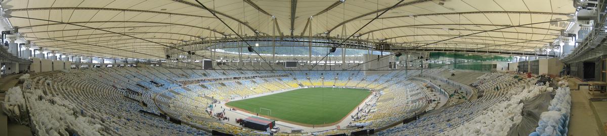 Das Maracanã-Stadion in Rio wurde zur WM 2014 für knapp 316 Millionen Euro umgebaut Das Maracan ã -Stadion in Rio wurde zur WM 2014 für knapp 316 Millionen Euro umgebaut