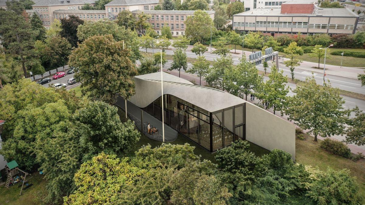 Bis Ende 2020 wird an der Einsteinstraße das in seiner Bauweise außergewöhnliche und optisch futuristische Gebäude  entstehen.