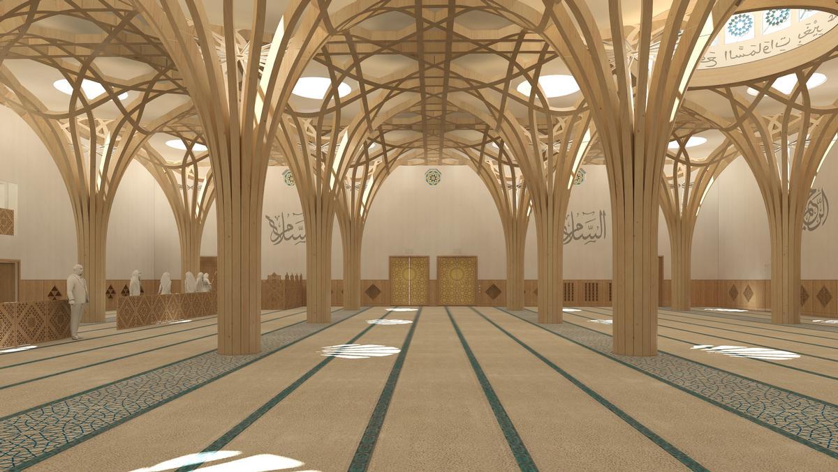 Simulation: Innenbereich der Cambridge Mosque