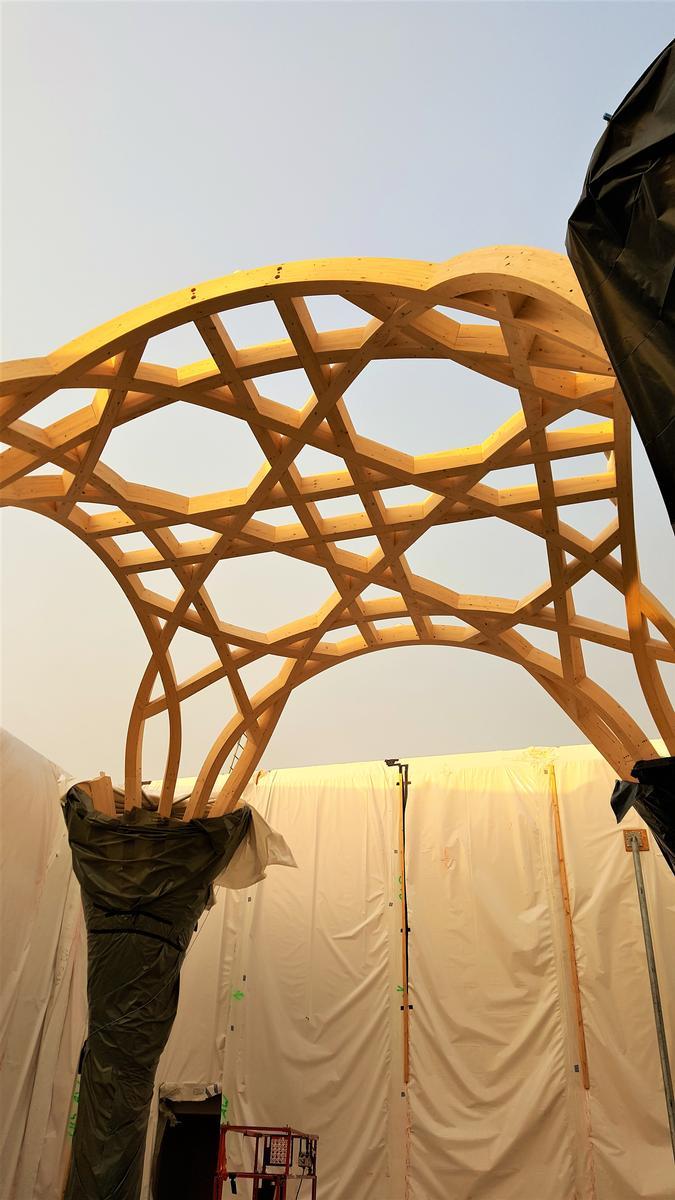Islamisch-tradierte Bauform: Die Träger bilden teilweise Achtecke aus.