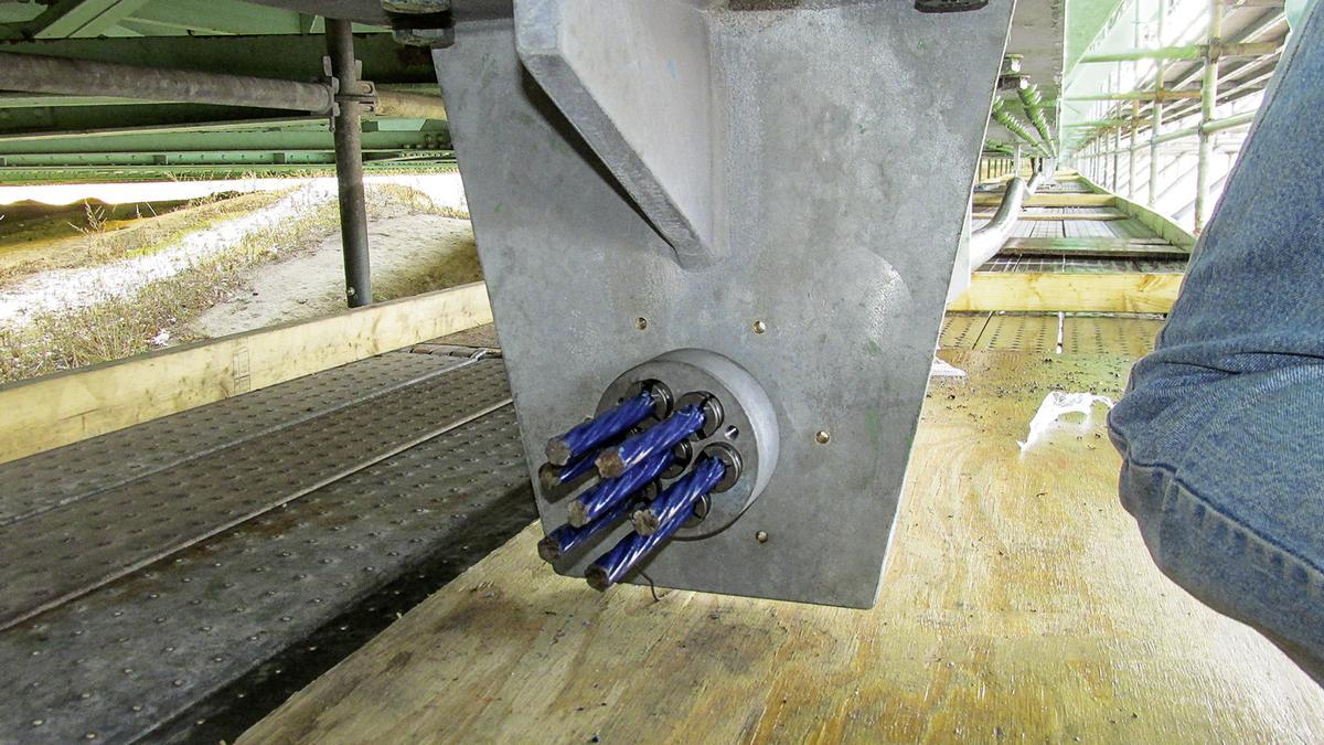 Eine spezielle Anschlussplatte für Ankerhalterungen