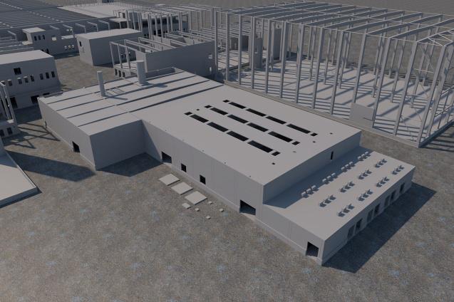 Energiezentrale E10 (CAD-Visualisierung)