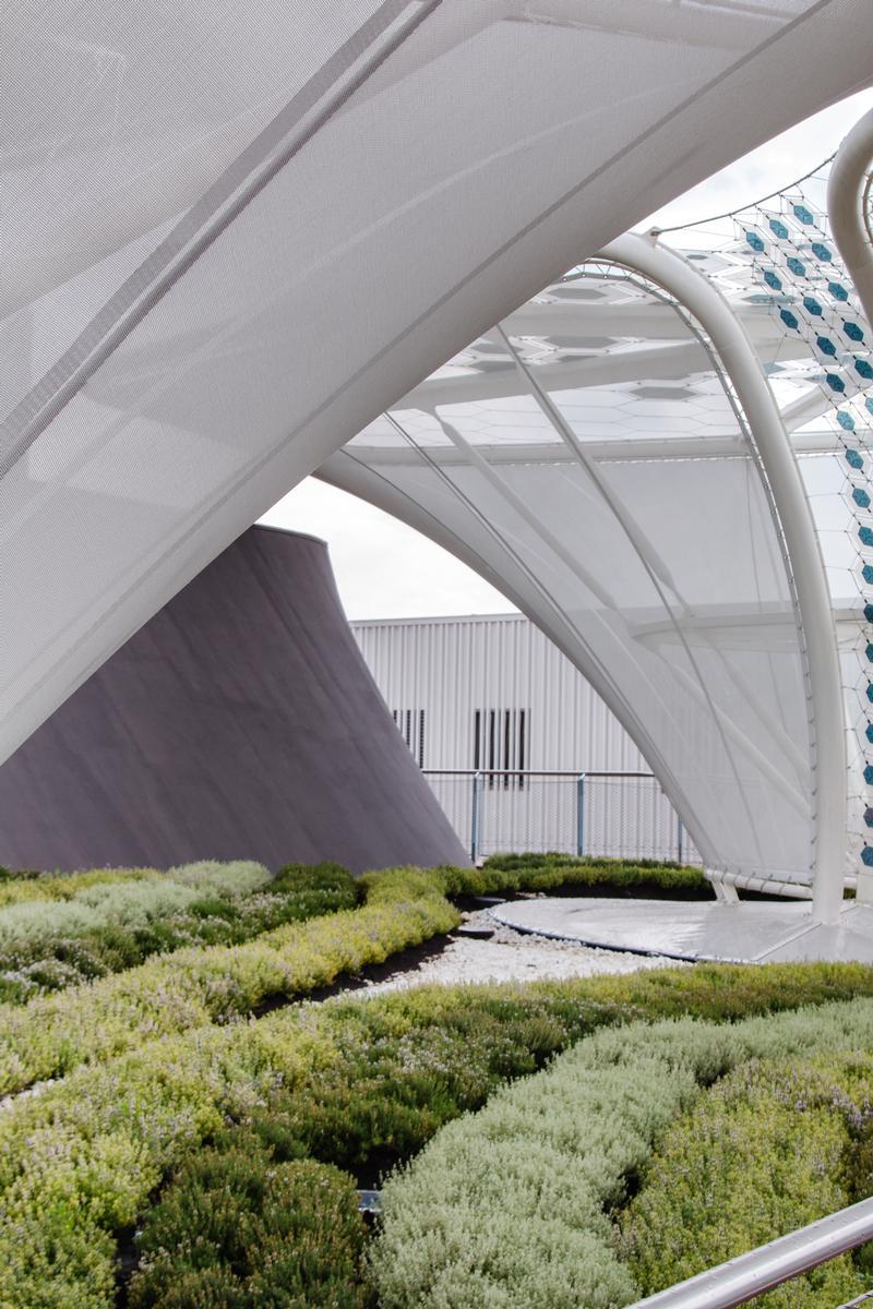 Membranstrukturen des deutschen Pavillons