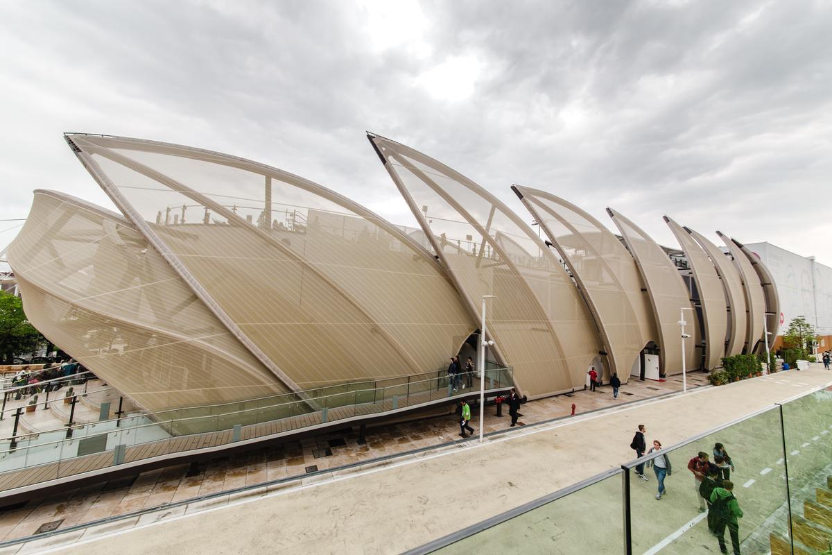 Sie sollen Maisblätter darstellen: Verbundmembranen des mexikanischen Pavillons