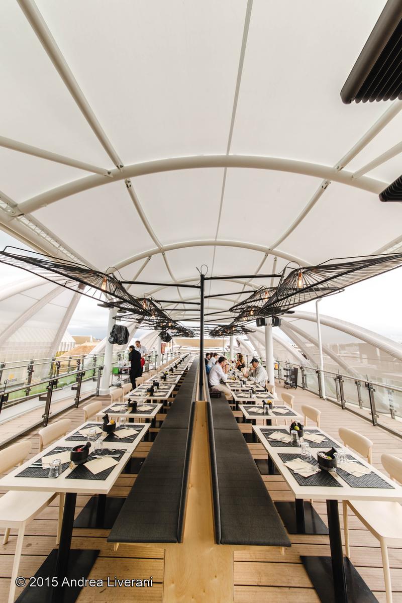Die Dachterrasse des mexikanischen Pavillons
