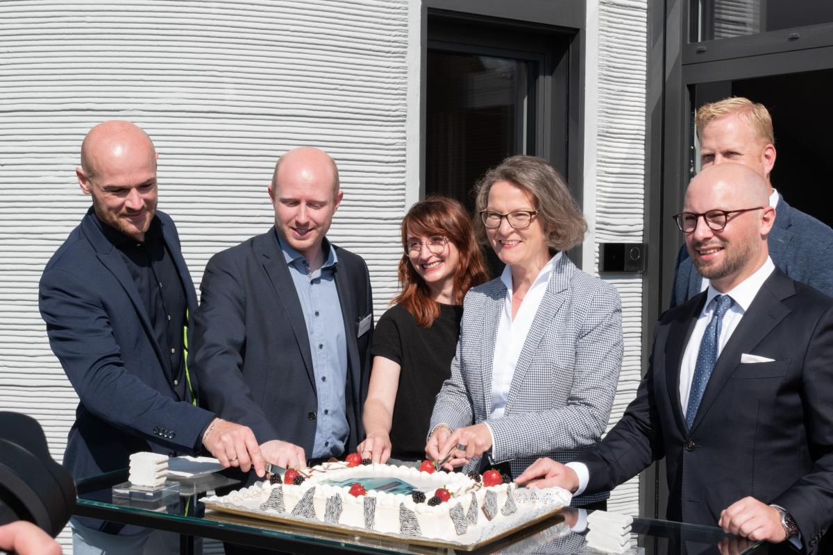 Eröffnung am 26. Juli 2021 Offizielle Eröffnung des gedruckten Hauses in Beckum am 26. Juli 2021
