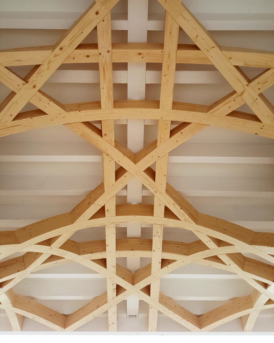 Details der Dachkonstruktion