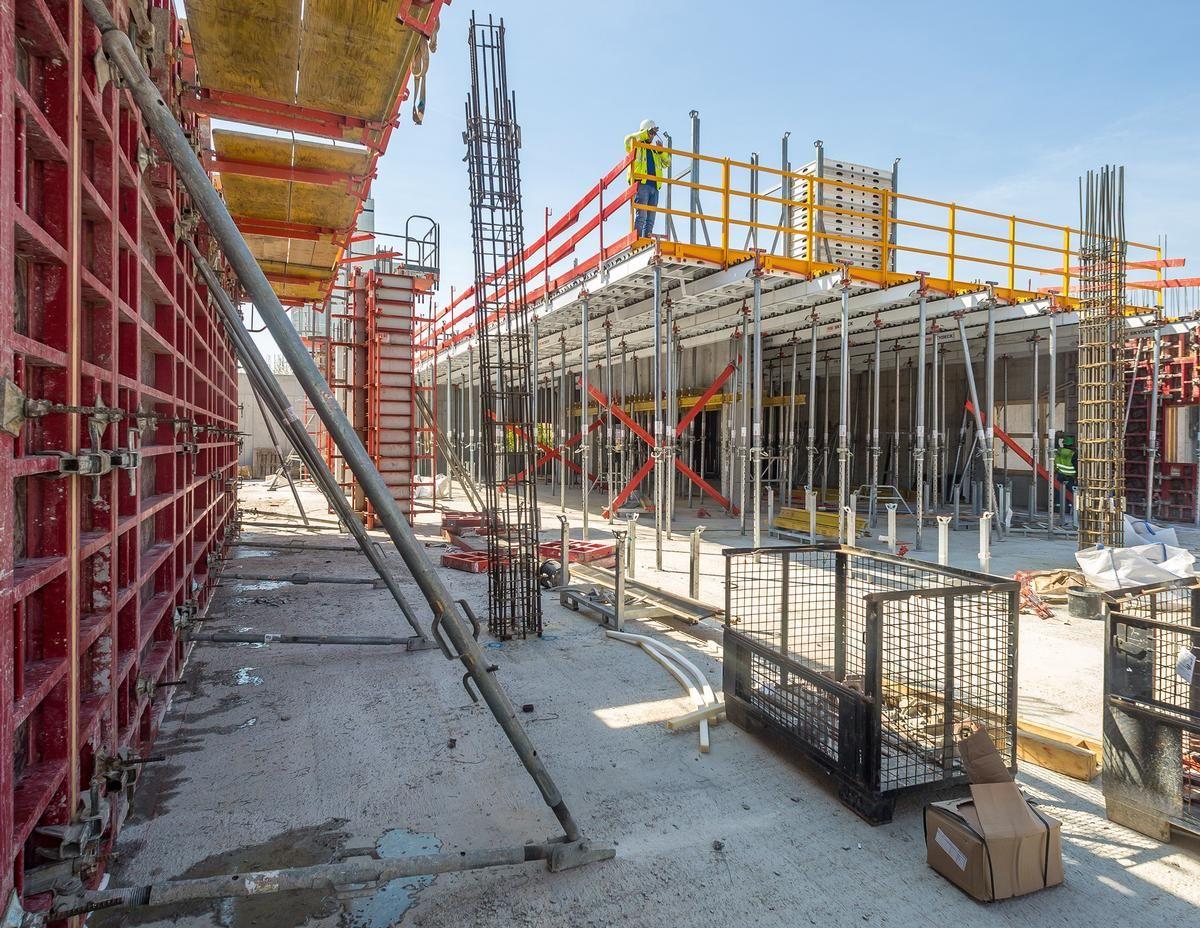 Die umfassende Schalungslösung unterstützt den raschen Baufortschritt mit hoher Sicherheit.