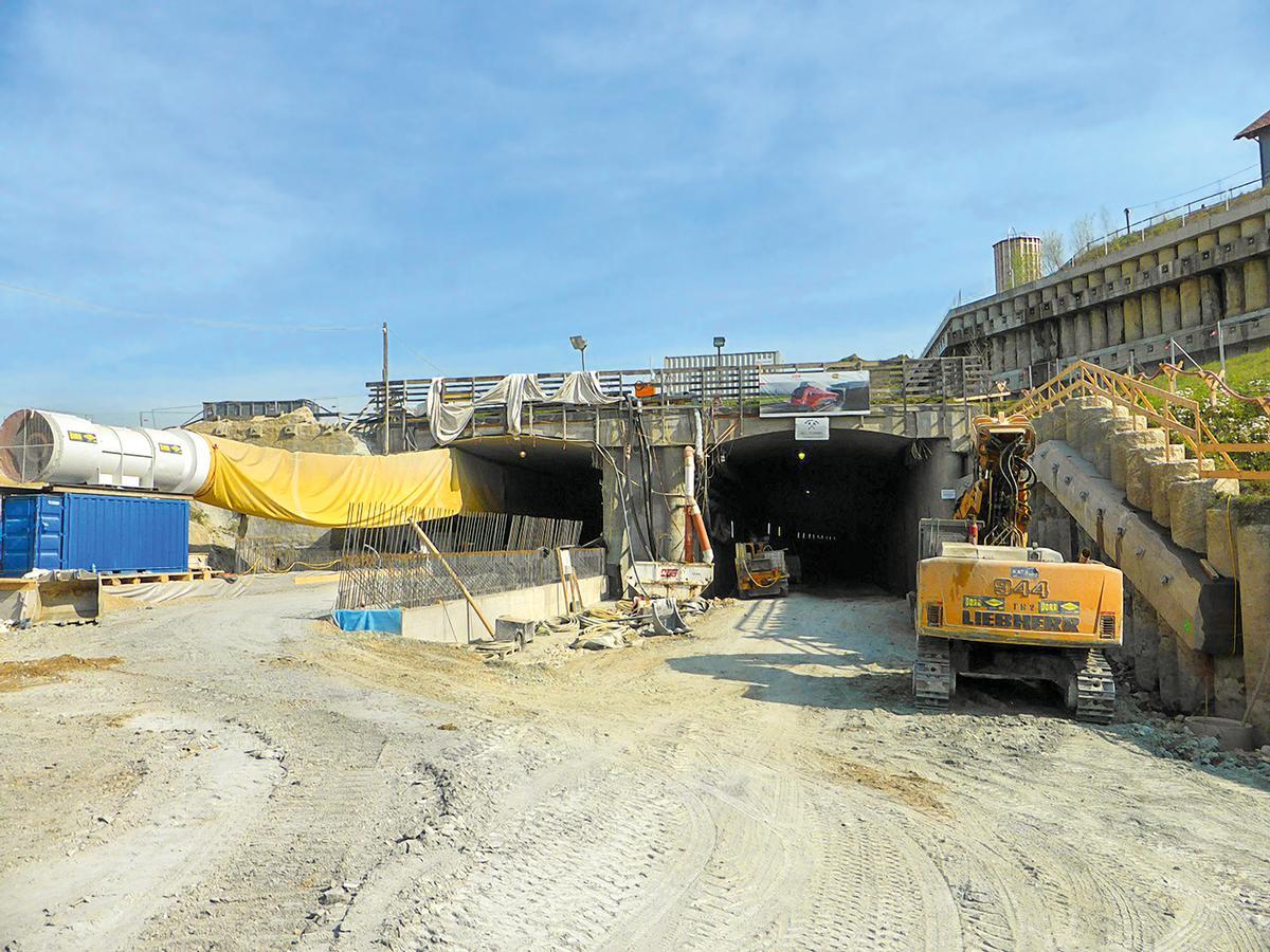 Entrance area of the Koralm Tunnel