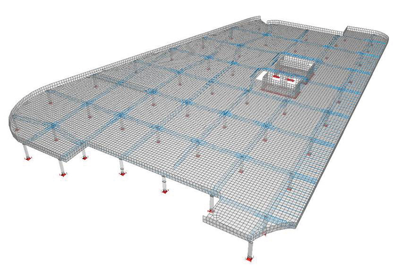 Electronic planning sketch of one flat slab