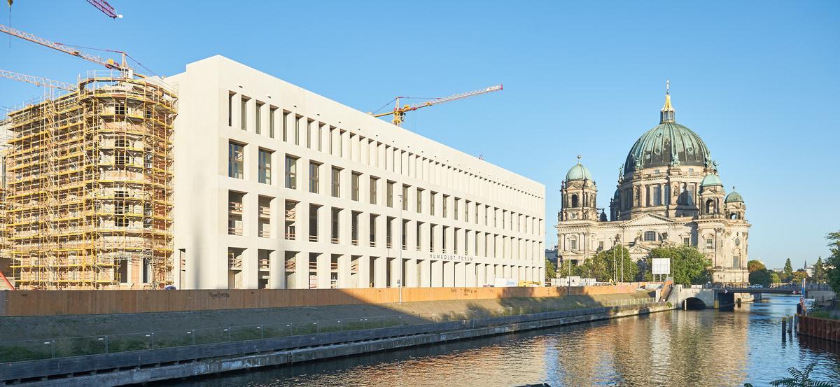 """Der Neubau von Berliner Schloss und Humboldt-Forum hatte für Diskussionen gesorgt. Im Bild die Ostfassade """"Belvedere"""" (schöne Aussicht)."""