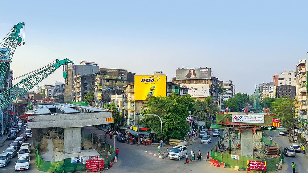 Die Tamwe-Brücke wird drei der verkehrsreichsten Straßen Yangons miteinander verbinden.