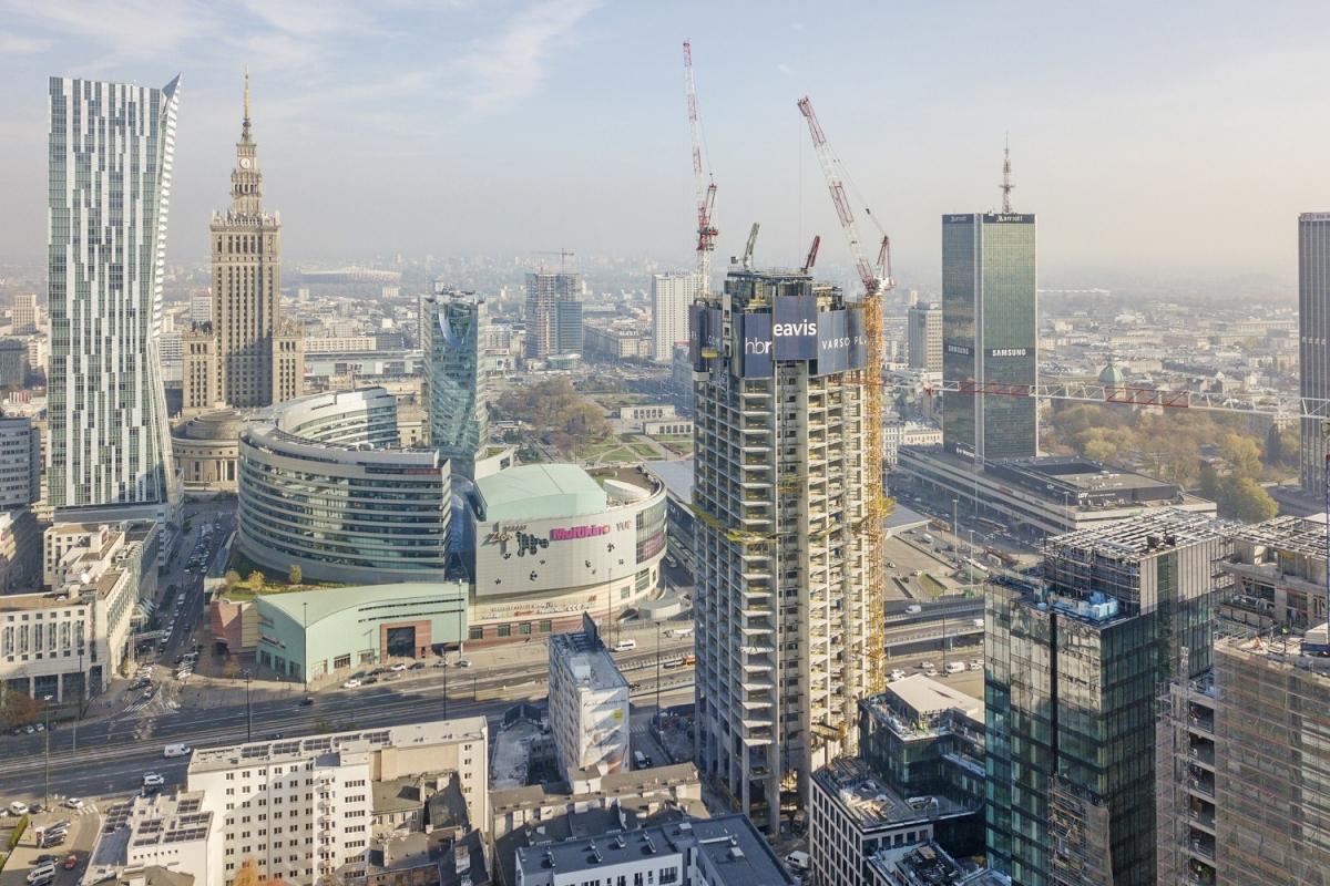 Höchstes Gebäude Polens Der Varso Tower wird mit 310 m das höchste Gebäude Polens sein.