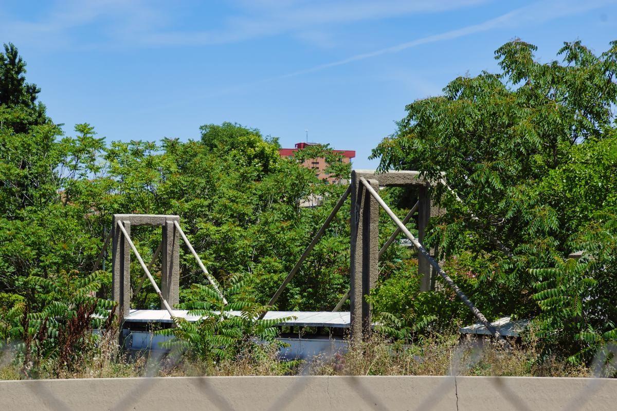 Rio Manzanares Pipeline Bridge