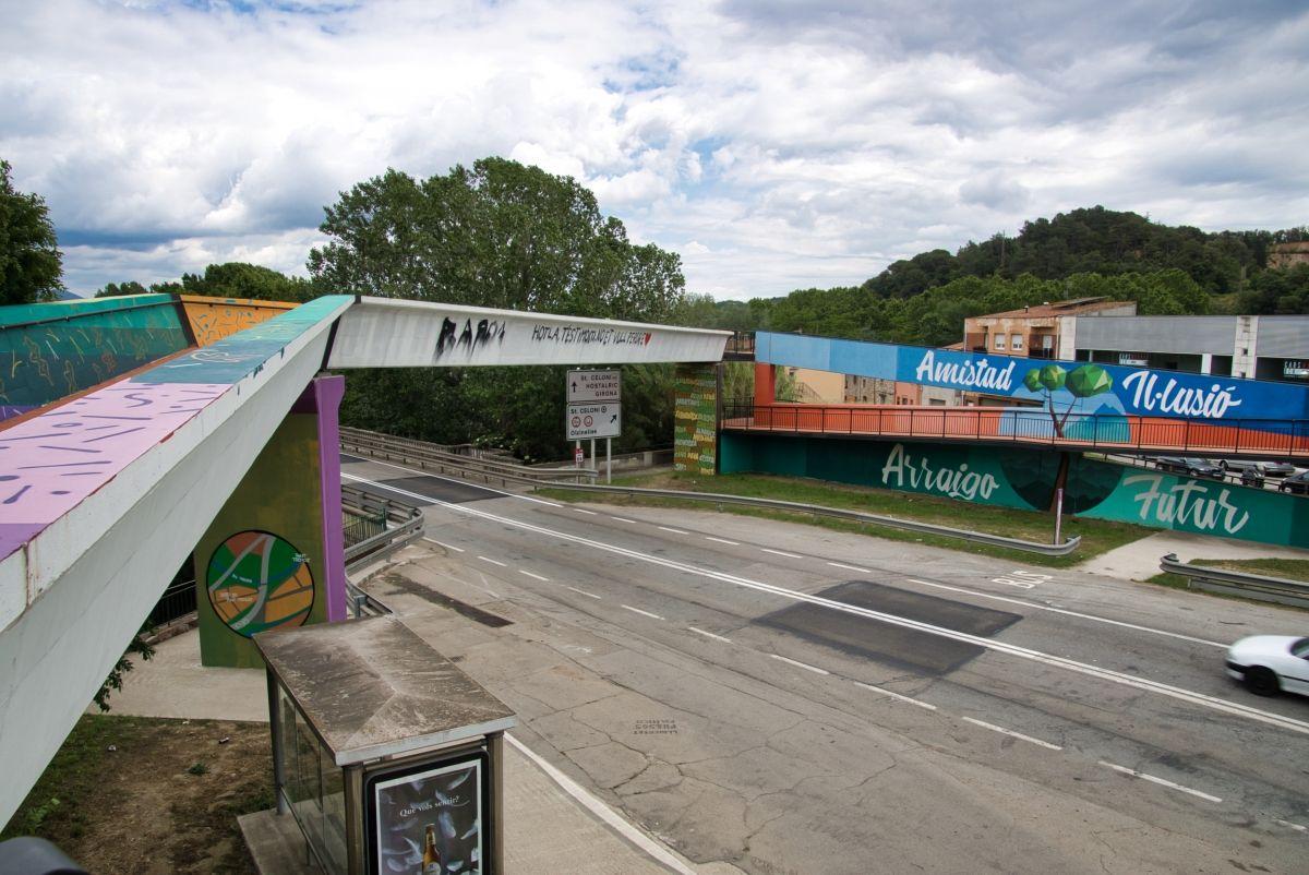 Geh- und Radwegbrücke Sant Celoni