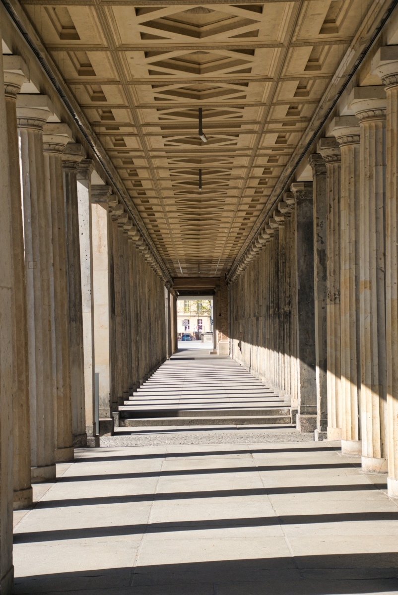 Colonnade at the Museum Island in Berlin