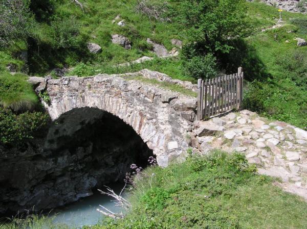 Pont du refuge de La Lavey