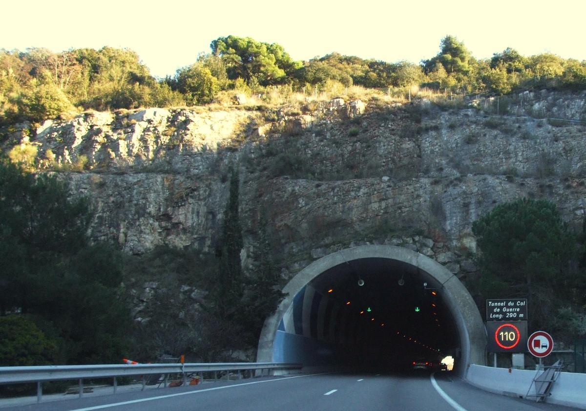 Autoroute A8 - Tunnel du Col de Guerre
