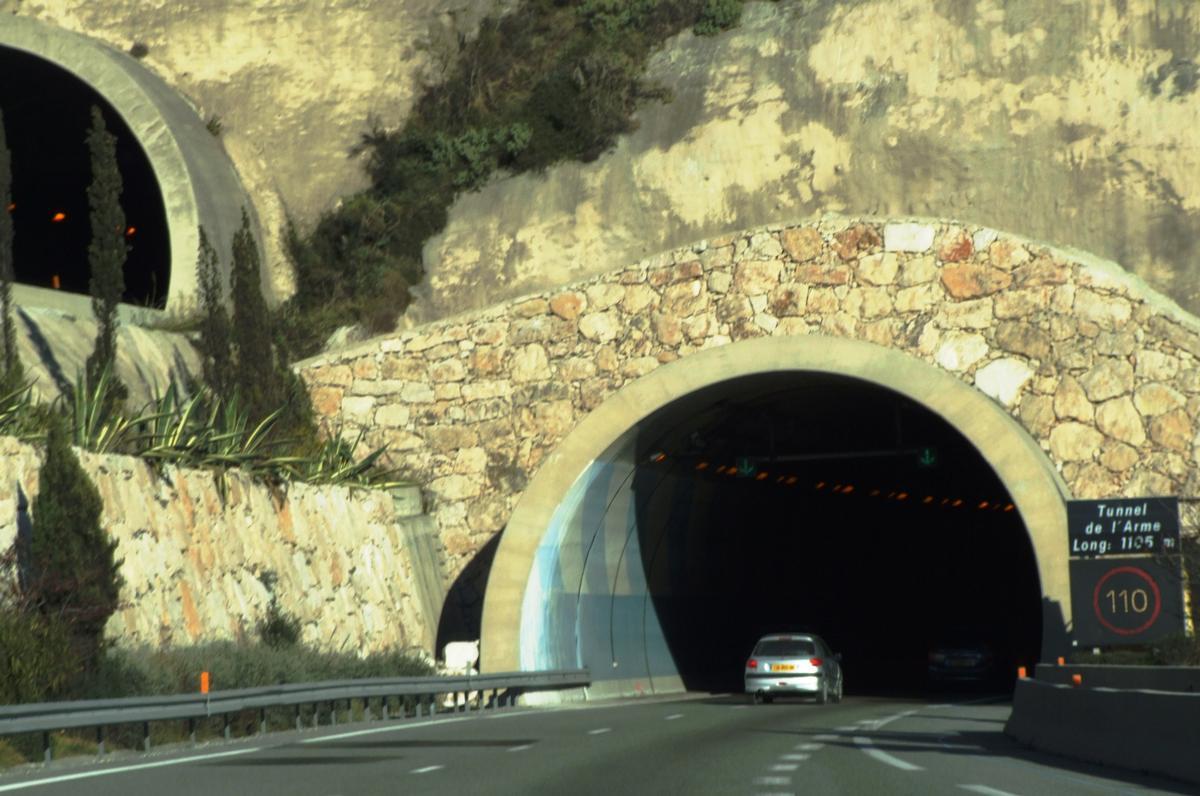 Autoroute A8 - Tunnels de l'Arme