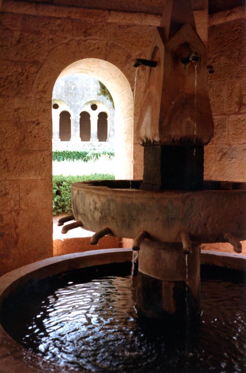 Abbaye du ThoronetLavabo du cloître