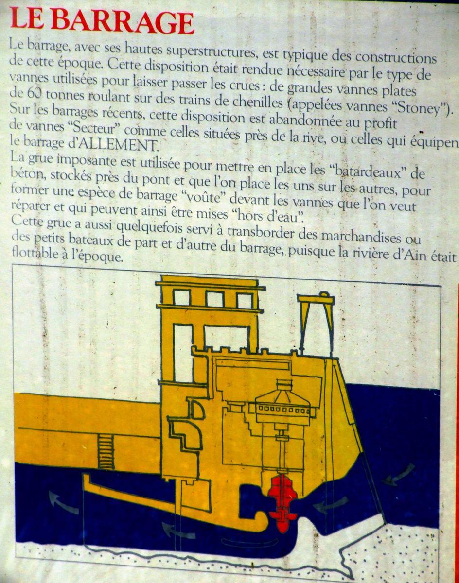 Barrage de Cize-Bolozon - Panneau d'information