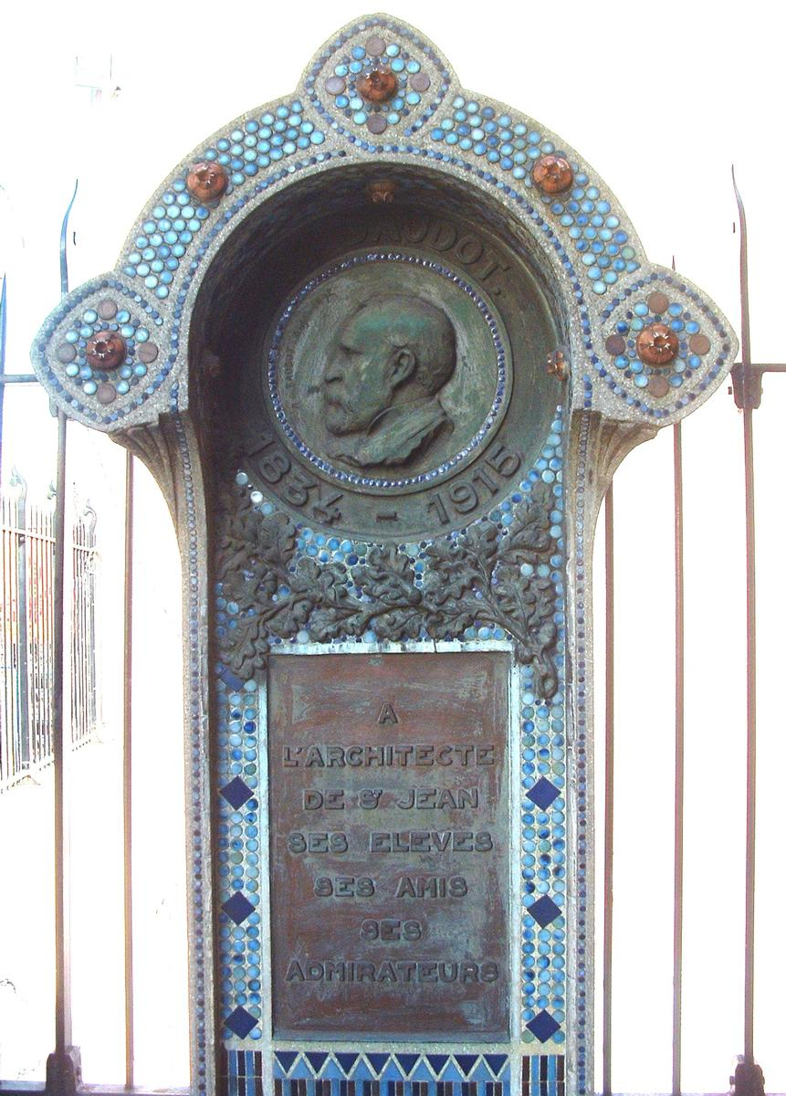 Commemorative monument at the Church Saint-Jean in Montmartre
