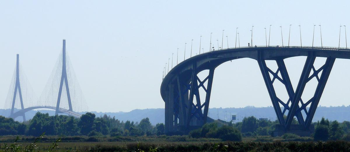 Autoroute A 29 – Grand Canal Bridge at Le Havre & Normandy Bridge