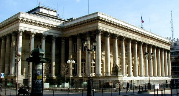 Stock Exchange (Bourse) in Paris.