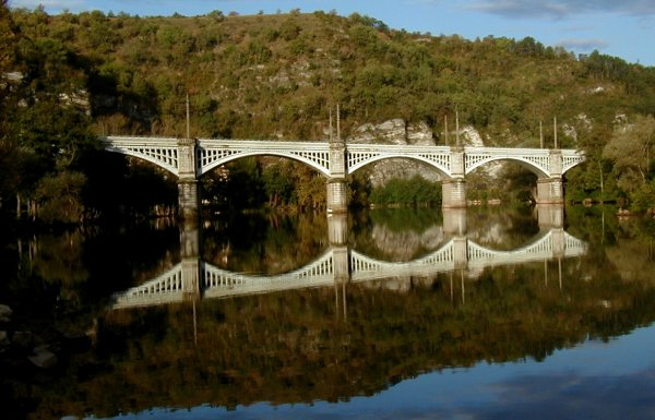 Cahors Railroad Bridge.