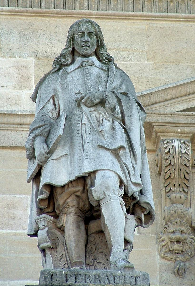 Statue of Claude Perrault, part of the façade of the Louvre.