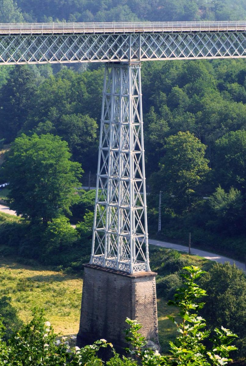 Busseau-sur-Creuse - Le viaduc de Busseau - Une pile